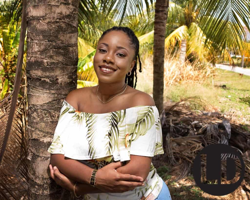 Candice Baptiste photographed near her home in Mayaro