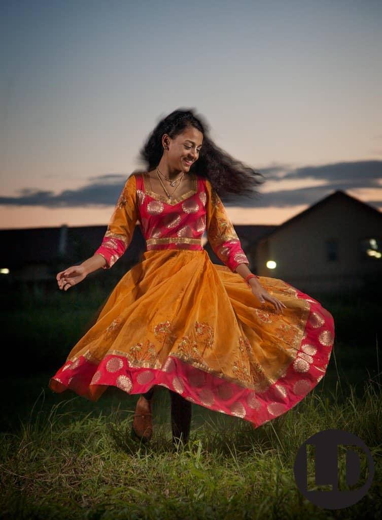 Raveena Ramdeen photographed at Lange Park, Chaguanas