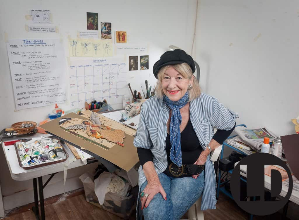 Sarah Beckett photographed at her Cascade studio
