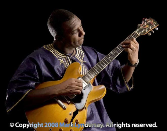 Theron Shaw, jazz guitarist, photographed for his CD release.
