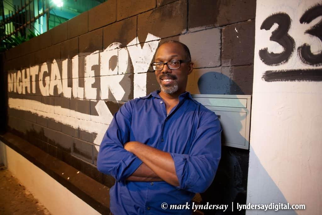 Richard Rawlins photographed at the Big Black Box, 2012