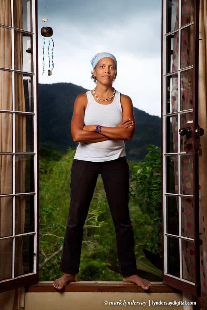 Jillian Goddard at her organic food factory