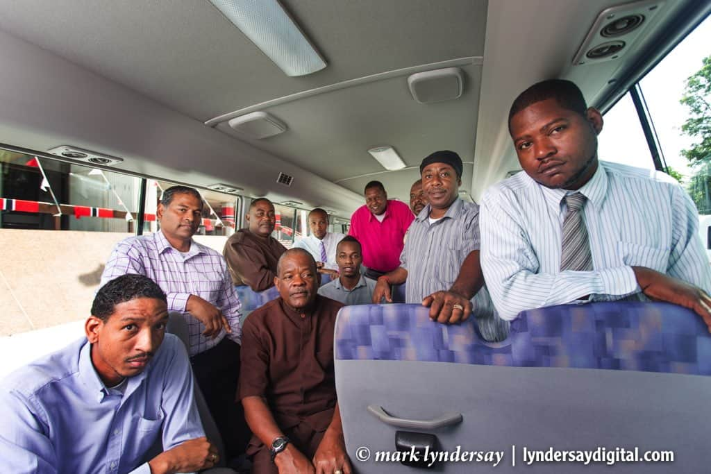 Judiciary Driver Staff photographed in an official bus.
