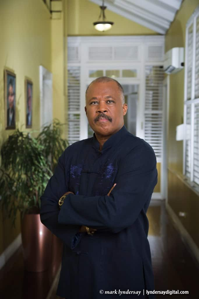 Sir Hilary Beckles photographed at UWI, St Augustine
