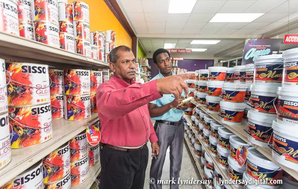 Managing the store, Sissons Colour Shop, Arima
