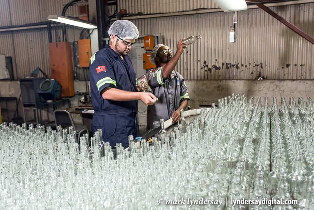 Production line Inspection, Carib Glass, Mt Hope