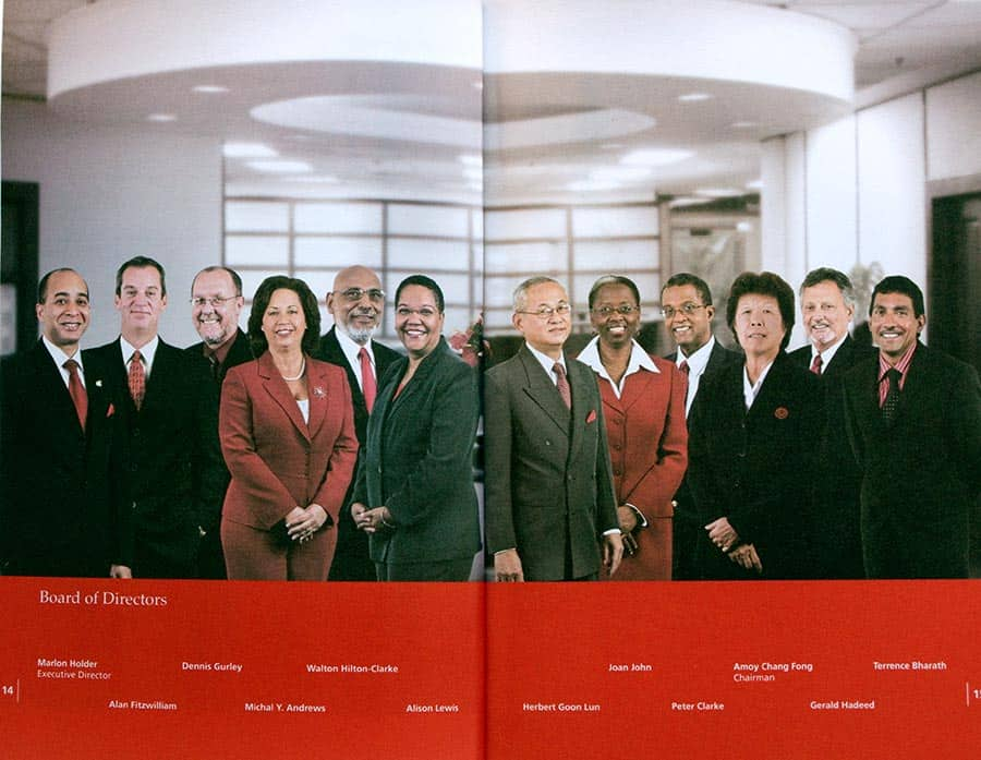 UTC Annual Report, Board of Directors. Imaging of individual photos by Donna Tull.